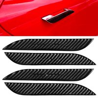 YLSHRF Car Carbon Fiber Exterior Door Handle Cover Sticker Trim Fit for Tesla Model S 2014-2018,Outer Door Handle Cover, Car Exterior Door Handle Cover