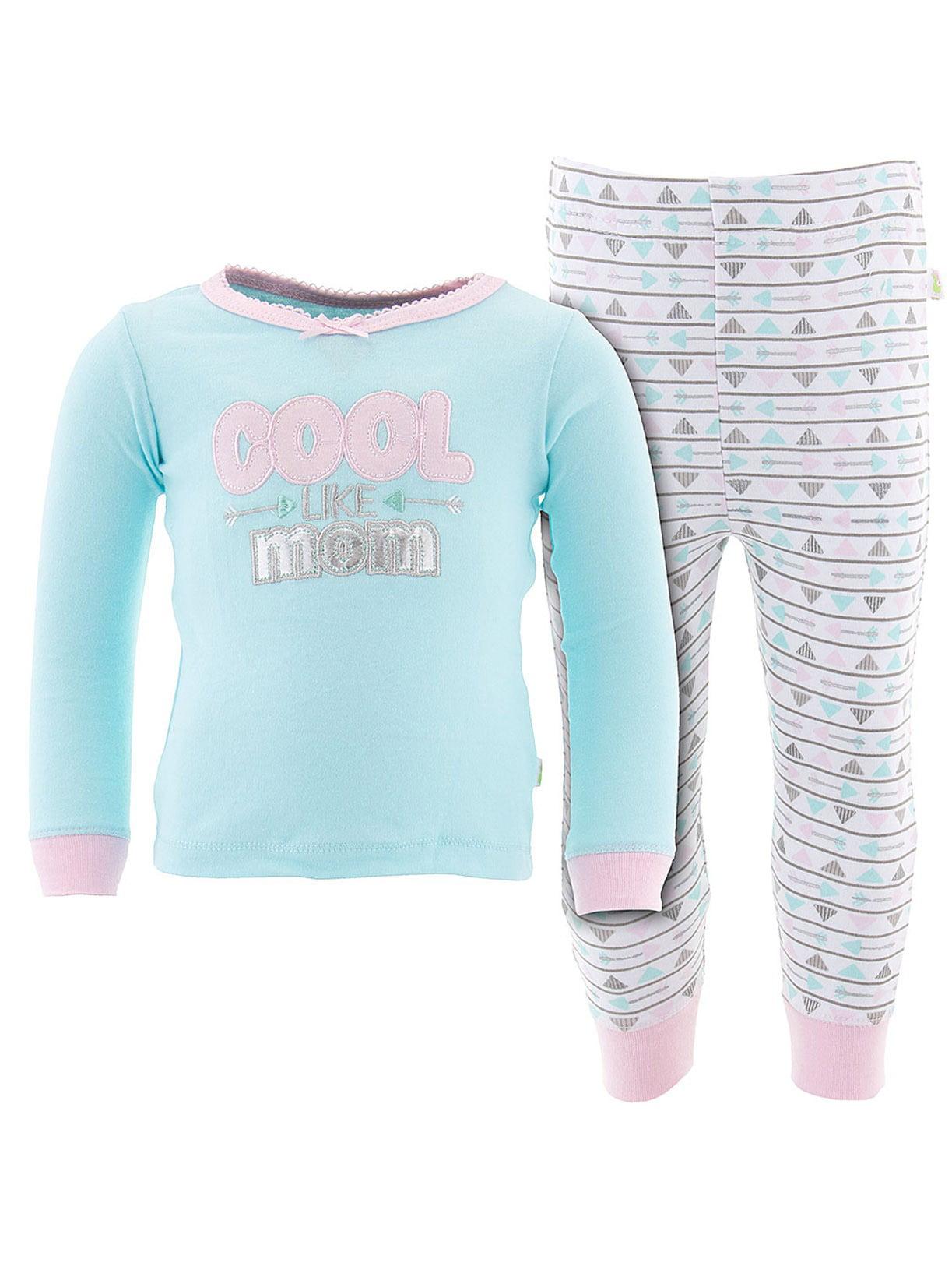 Duck Duck Goose Little Girls' Mint Cool Like Mom Cotton Pajamas