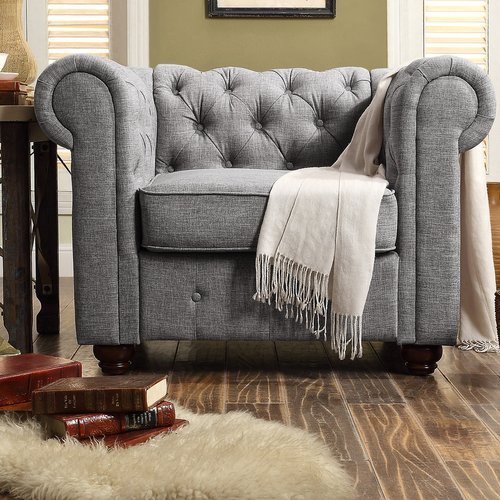 Mulhouse Furniture Garcia Chesterfield Chair
