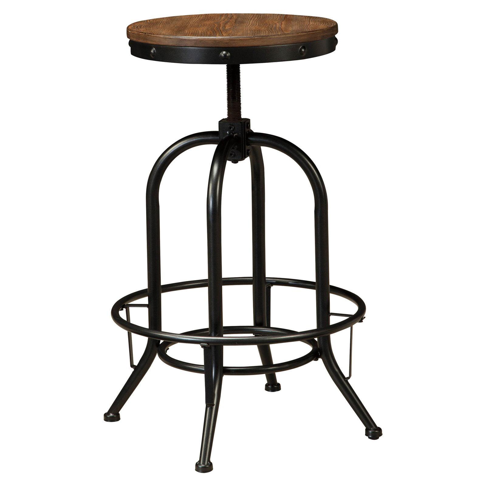 signature design by ashley pinnadel wood backless bar stools  set  - signature design by ashley pinnadel wood backless bar stools  set of  walmartcom