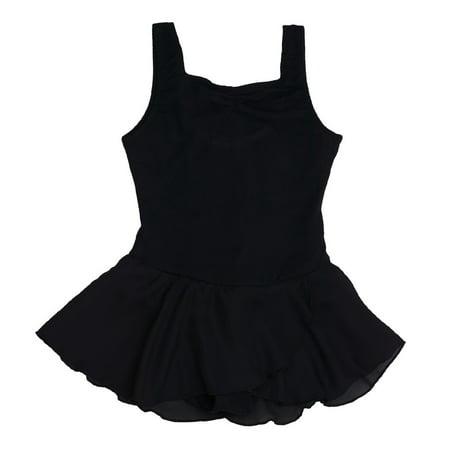 Black Sweetheart Neckline Georgette Skirt Dance Dress Girls 12-14
