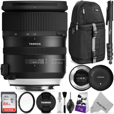 Tamron SP 24-70mm f/2.8 Di VC USD G2 Lens for CANON EF w/ Advanced Photo and Travel