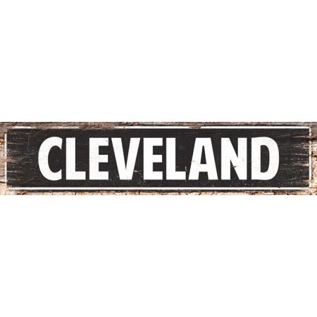 CLEVELAND Street Plate Sign Bar Store Shop Cafe Home Kitchen Chic Decor (Cleveland Stores)