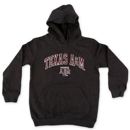008f7d10 Texas A&M Aggies Youth Kids Hoodie Black L