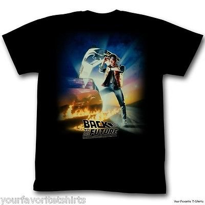 Back To The Future Vintage Movie Poster Adult T-Shirt - Back To The Future Merchandise