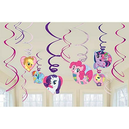 My Little Pony Dangling Swirl Decorations Birthday Party Supplies Favor Pack