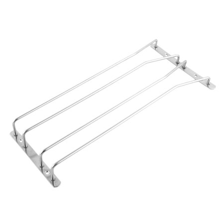 Household Metal 2 Rows Cup Hanging Wine Glasses Holder Wine Glasses Rack ()