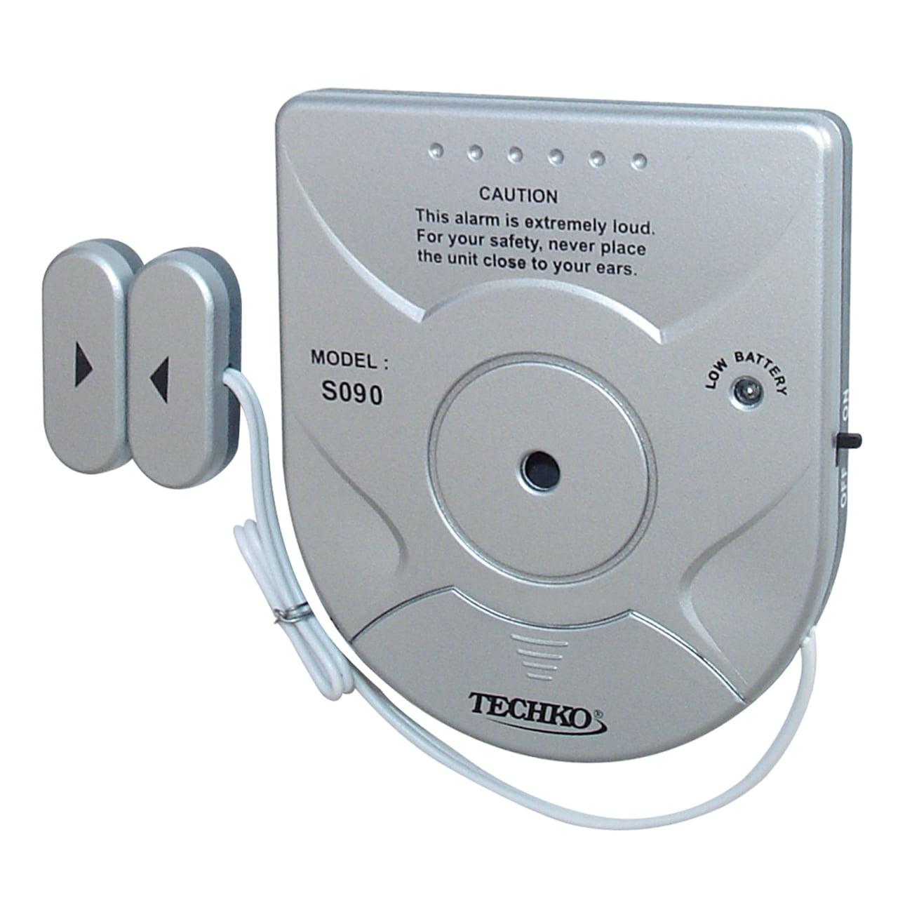 Techko S090 Solar Powered Magnetic Sensor Entry Alarm