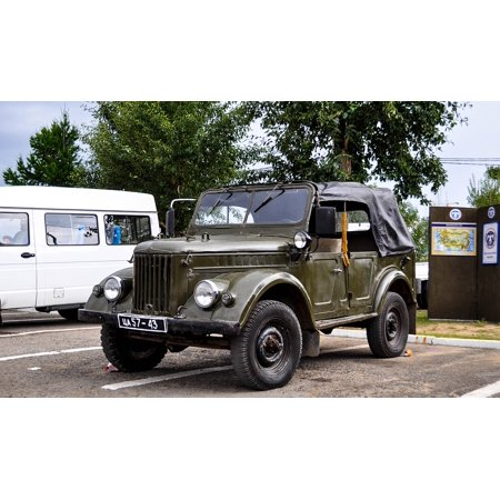Peel-n-Stick Poster of Jeep Russian Transport Vintage Old Soviet CarPoster 24x16 Adhesive Sticker Poster Print