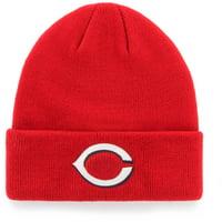 Men's Red Cincinnati Reds Cuffed Knit Hat - OSFA