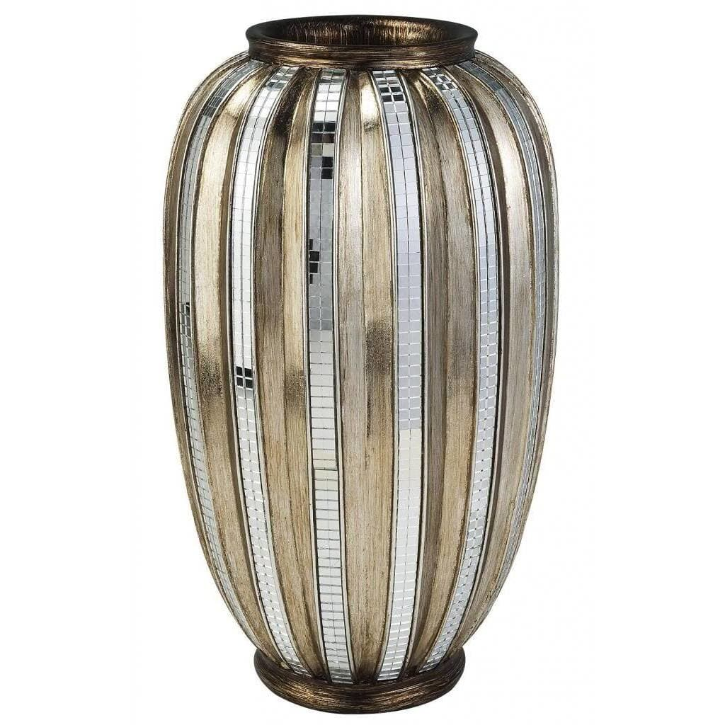 ORE International Silver/ Gold Metallic Tiles Decorative Vase