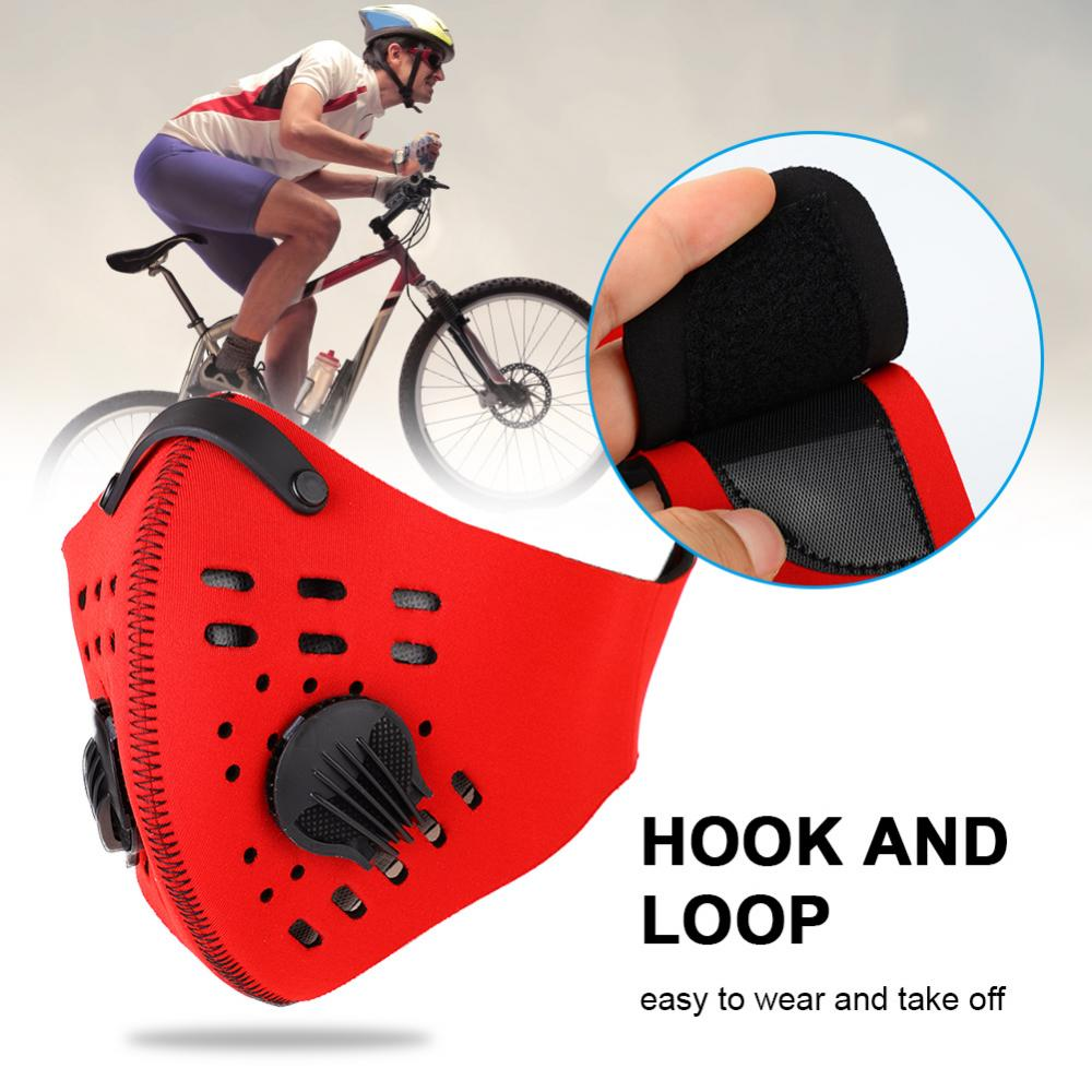 4Colors Durable Warm Anti Dust Pollution Dustproof Filter Half Face Mask for Outdoor Cycling, Cycling Mask, Dustproof Face Mask