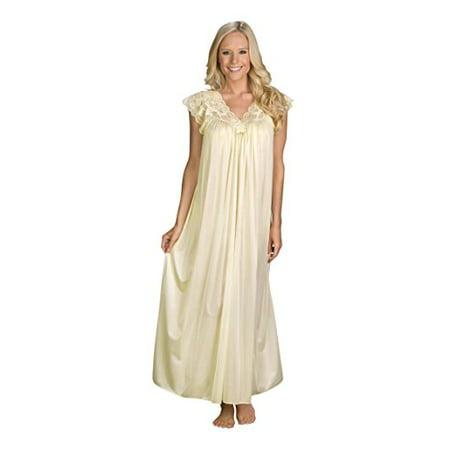 2bbb702d29e Velrose Lingerie - Shadowline Womens Plus-Size Silhouette 53 Inch Short Cap  Sleeve Long Gown - Walmart.com