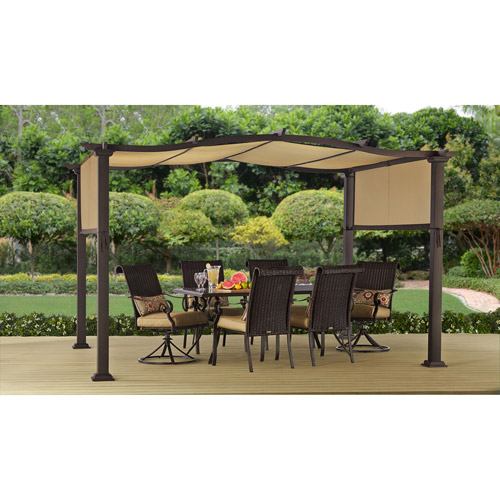 Better Homes U0026 Gardens Emerald Coast Outdoor Pergola, 12 FT X 10 FT