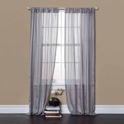 Rhythm Gray Window Curtains, Pair