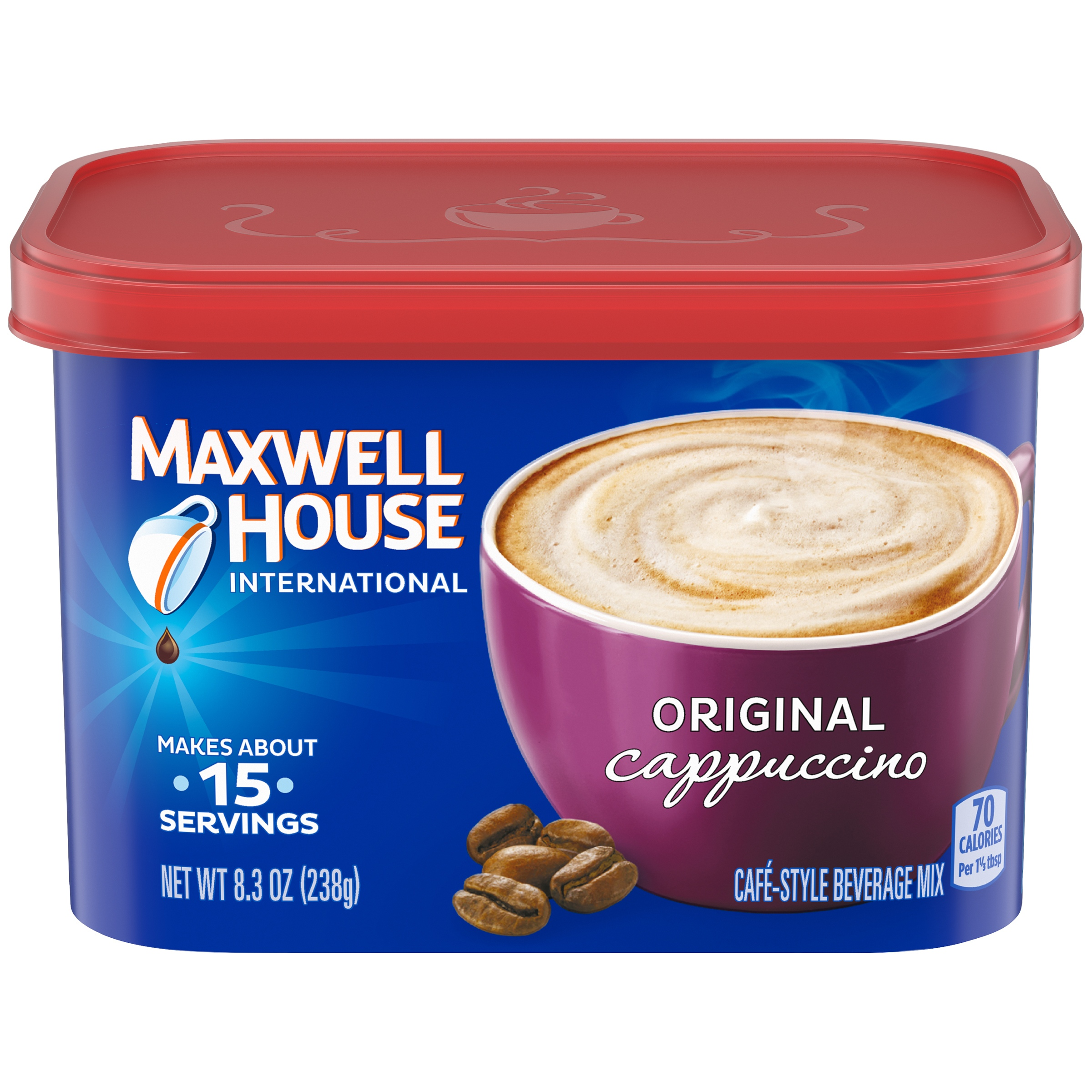 Maxwell House International Original Cappuccino Café-Style Beverage Mix 8.3 oz. Tub