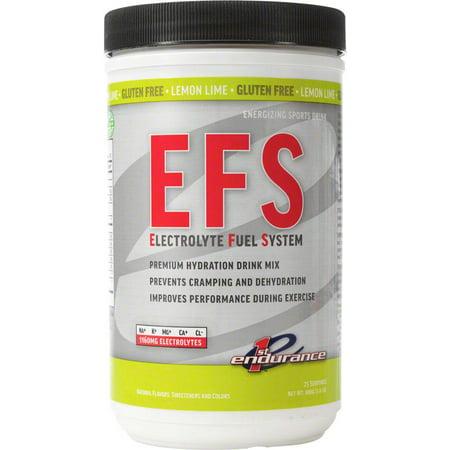 First Endurance EFS Drink Mix: Lemon Lime 25 Serving Canister ()