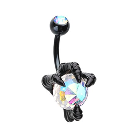 Black Dragon's Claw Belly Button Ring (Dragon Claw Ring)