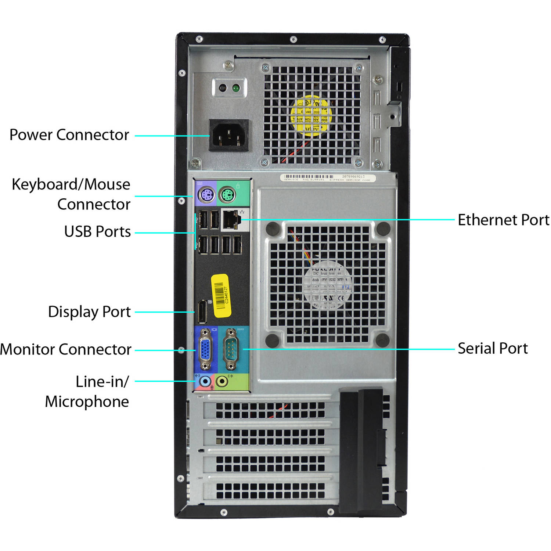 Refurbished Dell Optiplex 990-T WA1-0315 Desktop PC with Intel Core i5-2400  Processor, 8GB Memory, 1TB Hard Drive and Windows 10 Pro