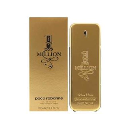 Paco Rabanne 1 Million Eau de Toilette Fragrance Spray for Men, 3.4 fl (Paco Gel Eau De Toilette)