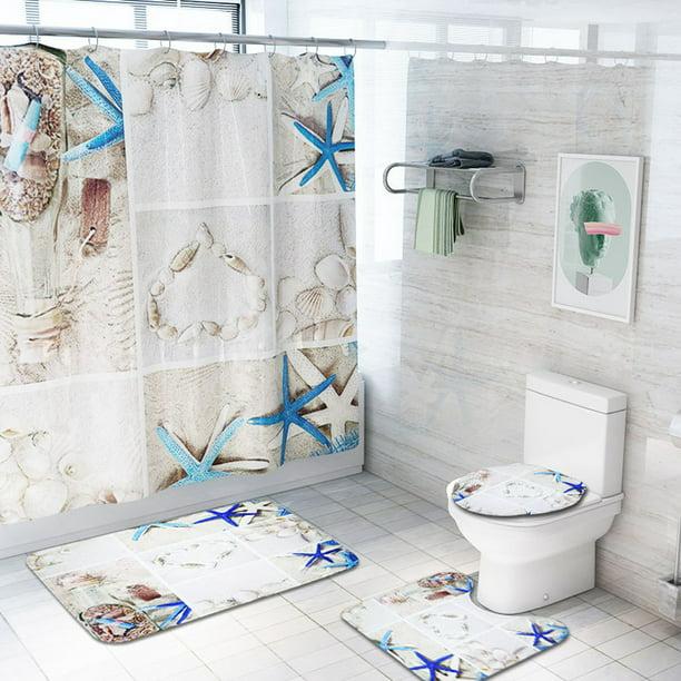 Piece Coastal Bath Rugs With Fabric