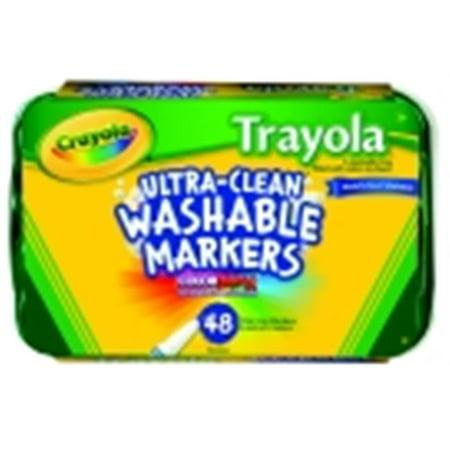 Crayola Classic Trayola Non-Toxic Washable Marker Set, Fine Tip, Set - 48 - Crayola Marker Set