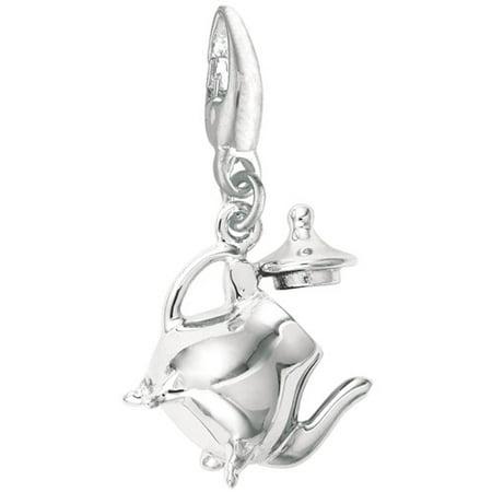 Women's Sterling Silver Tea Pot Clip-On Charm