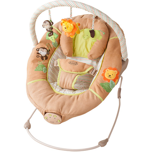 Summer Infant Sweet Comfort Musical Bouncer, Swingin' Safari