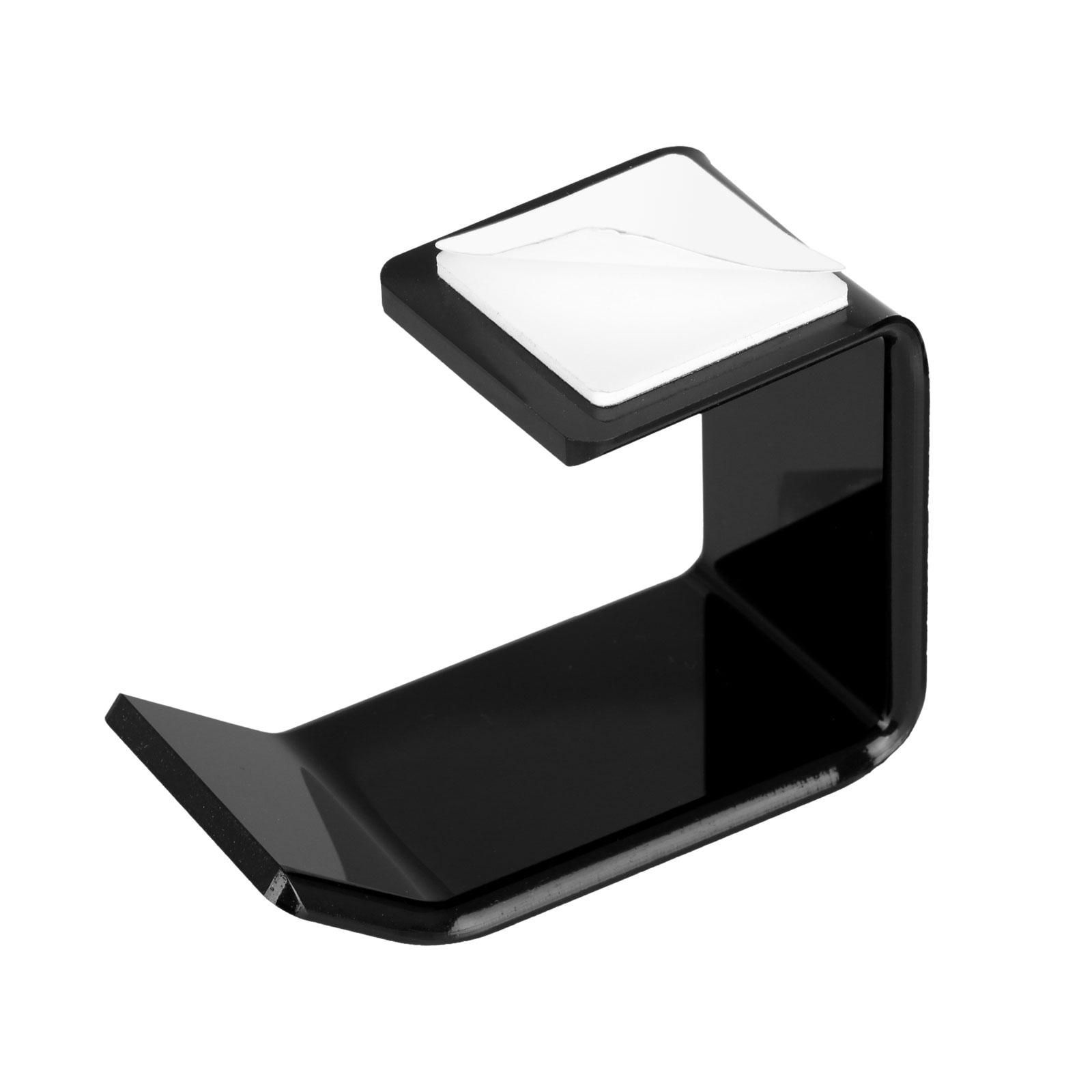 Acrylic Headphone Stand Dual Headset Mount Holder Hanger Hook Tape Under Desk