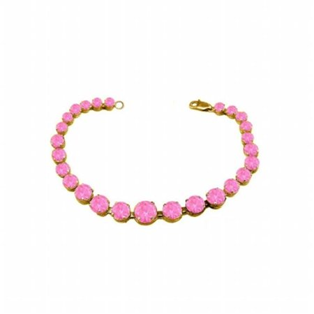 Pink Sapphire Set Bracelet (UBUBRBK7205Y14PS Prong Set Pink Sapphire Bracelet in 14K Yellow)