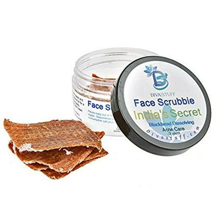 Diva Stuff India's Secret Blackhead Dissolving & Removing Face Scrub Pads, Plus Pore Toning and (Best Way To Dissolve Blackheads)