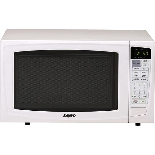 Sanyo 1 5 Cu Ft Counter Top 1100 Watt Microwave Oven White