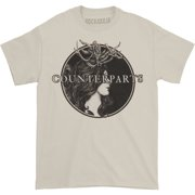 Counterparts Men's Antlers T-shirt Small White