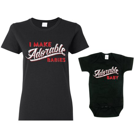 0ae2213e Texas Tees - Texas Tees Brand: Adorable Baby Mother Daughter Shirts, Black  Womans Small Shirt & Black 6-12 m - Walmart.com
