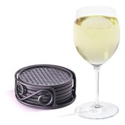 Spectrum Diversified Scroll 6 Piece Coasters with Container