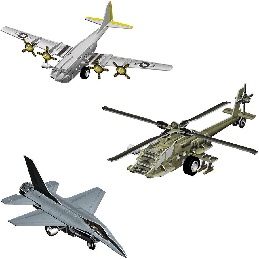 Smithsonian 3D Motorized Puzzles, Flight 3 Pack