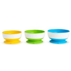 Munchkin Stay-Put Suction Bowls - 3pk