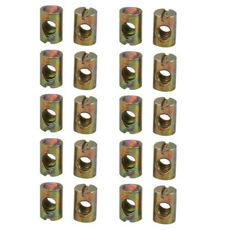 20pcs M6 Fil 15mm haut fer zingué lecteur fente écrous croix - image 3 de 3