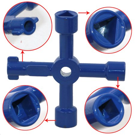 Multifunctional Four Uses Key Wrench - image 2 de 8