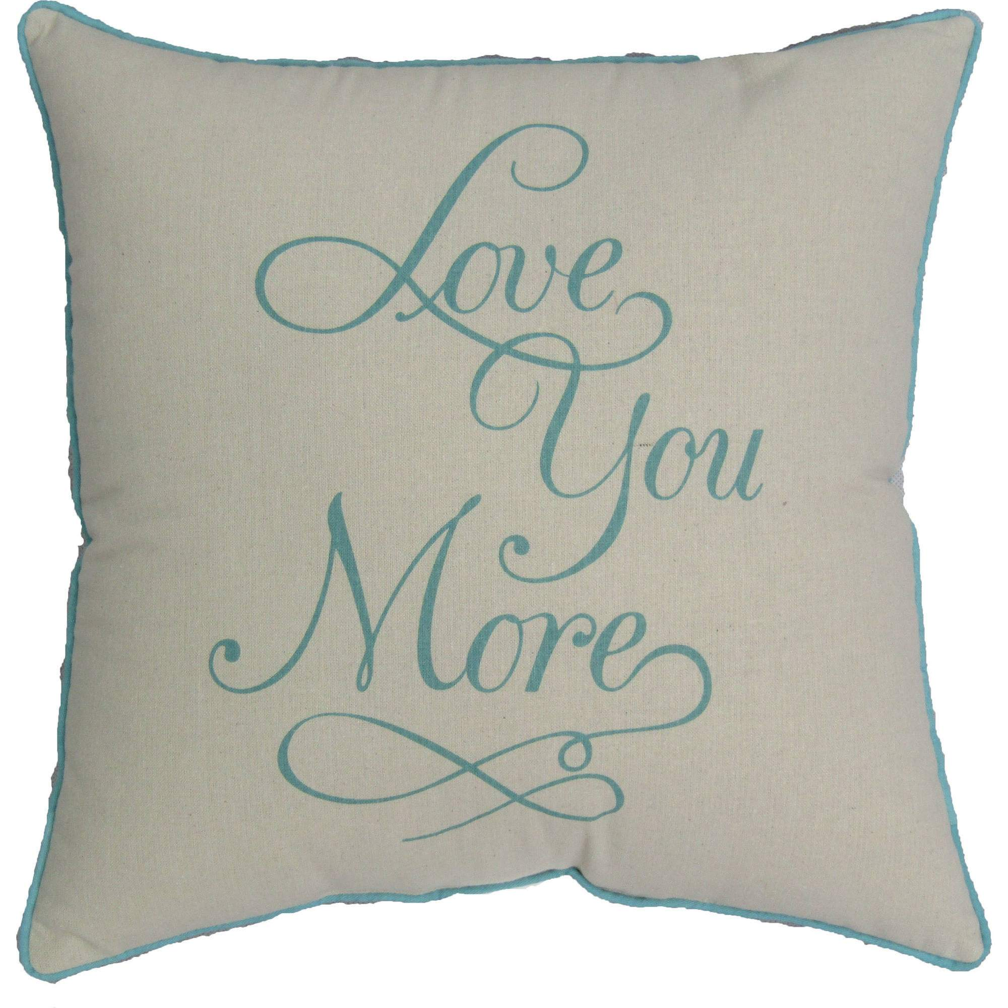 "Mainstays 18""X18"" Love You More Decorative Pillow"