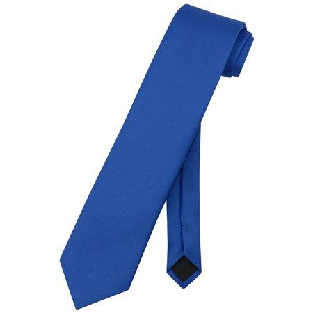 vesuvio napoli necktie solid extra long royal blue color men