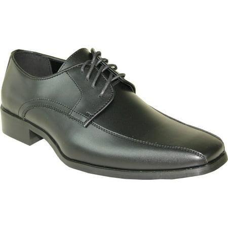 (VANGELO Men Tuxedo Shoe TUX-5 Fashion Square Toe for Wedding Formal Event Black Matte 6.5M)