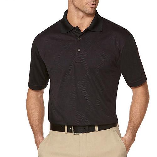 Ben Hogan Big Men's Short Sleeve Embossed Argyle Polo