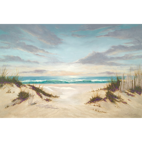 Canvas wall art sunset on beach 21 5 x 32 5