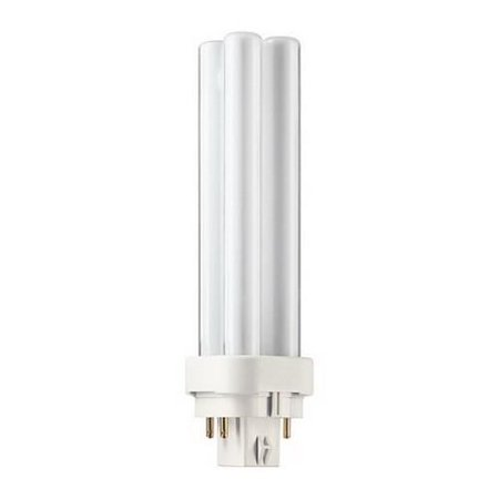 Philips Lighting 383265 PL-C Linear Compact Fluorescent Lamp 13 Watt 4-Pin G24q-1 Base 900 Lumens 82 CRI 3000K Warm White Alto
