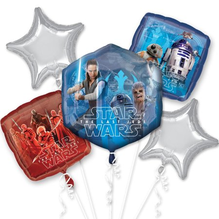 Star Wars The Last Jedi Foil Balloon Bouquet