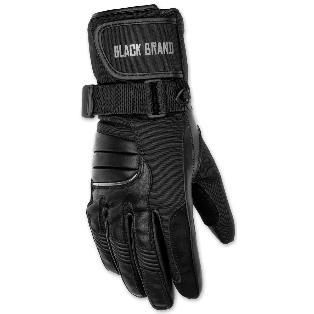 Black Brand Wintress Womens Leather Gloves Black