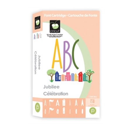 Cricut Cartridge, Jubilee, Font cartridge for use with all Cricut machines By Provo Craft Novelty Cricut from