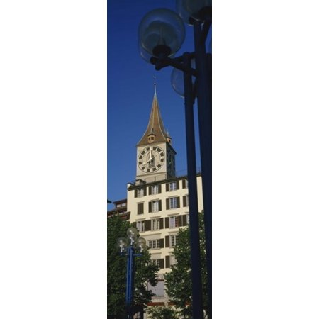 Low angle view of a clock tower Zurich Canton Of Zurich Switzerland Canvas Art - Panoramic Images (18 x 6)