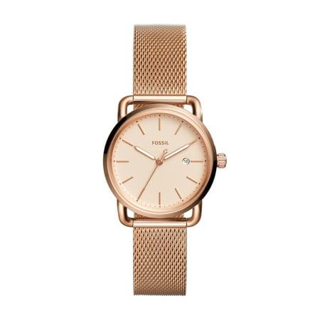 Women's The Commuter ES4333 Rose-Gold Stainless-Steel Quartz Fashion Watch